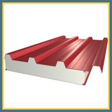 Сэндвич-панель стеновая трехслойная 1190х150 мм с минеральной ватой