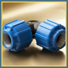 Отвод ПЭ сварной двухсегментный 30° 1400 мм SDR17 ПЭ 100