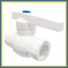 Вентиль шаровый полипропиленовый DN 25 (белый)