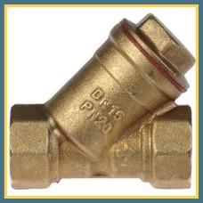 Фильтр косой латунный DN 20 мм сетчатый